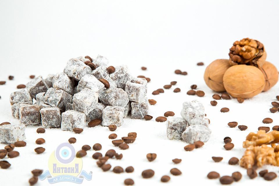 Лукум кофейный с грецким орехом двойной обжарки